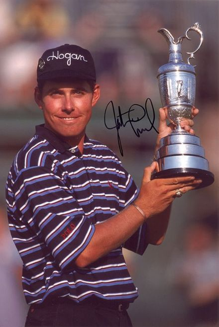 Justin Leonard, Open Champion 1997, signed 12x8 inch photo.